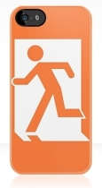 Running Man Fire Safety Exit Sign Emergency Evacuation Apple iPhone 5 Mobile Phone Case 16