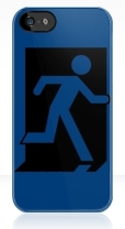 Running Man Fire Safety Exit Sign Emergency Evacuation Apple iPhone 5 Mobile Phone Case 160