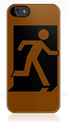 Running Man Fire Safety Exit Sign Emergency Evacuation Apple iPhone 5 Mobile Phone Case 161