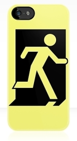 Running Man Fire Safety Exit Sign Emergency Evacuation Apple iPhone 5 Mobile Phone Case 162