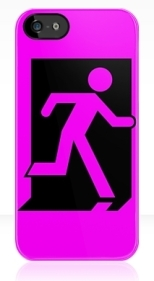 Running Man Fire Safety Exit Sign Emergency Evacuation Apple iPhone 5 Mobile Phone Case 163