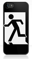 Running Man Fire Safety Exit Sign Emergency Evacuation Apple iPhone 5 Mobile Phone Case 17