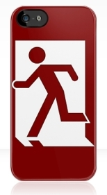 Running Man Fire Safety Exit Sign Emergency Evacuation Apple iPhone 5 Mobile Phone Case 18