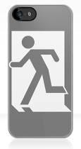 Running Man Fire Safety Exit Sign Emergency Evacuation Apple iPhone 5 Mobile Phone Case 19