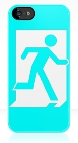 Running Man Fire Safety Exit Sign Emergency Evacuation Apple iPhone 5 Mobile Phone Case 20