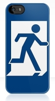 Running Man Fire Safety Exit Sign Emergency Evacuation Apple iPhone 5 Mobile Phone Case 21