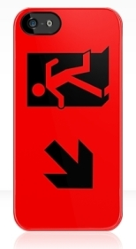 Running Man Fire Safety Exit Sign Emergency Evacuation Apple iPhone 5 Mobile Phone Case 22