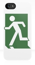 Running Man Fire Safety Exit Sign Emergency Evacuation Apple iPhone 5 Mobile Phone Case 24