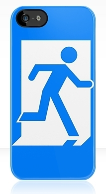 Running Man Fire Safety Exit Sign Emergency Evacuation Apple iPhone 5 Mobile Phone Case 25