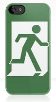 Running Man Fire Safety Exit Sign Emergency Evacuation Apple iPhone 5 Mobile Phone Case 26