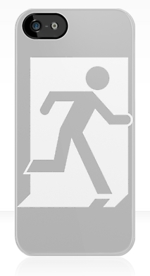 Running Man Fire Safety Exit Sign Emergency Evacuation Apple iPhone 5 Mobile Phone Case 27