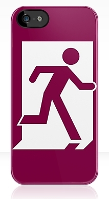 Running Man Fire Safety Exit Sign Emergency Evacuation Apple iPhone 5 Mobile Phone Case 28