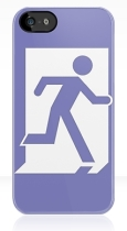 Running Man Fire Safety Exit Sign Emergency Evacuation Apple iPhone 5 Mobile Phone Case 29