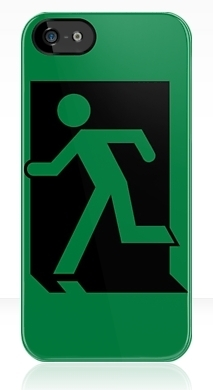 Running Man Fire Safety Exit Sign Emergency Evacuation Apple iPhone 5 Mobile Phone Case 3