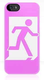 Running Man Fire Safety Exit Sign Emergency Evacuation Apple iPhone 5 Mobile Phone Case 30