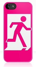 Running Man Fire Safety Exit Sign Emergency Evacuation Apple iPhone 5 Mobile Phone Case 31