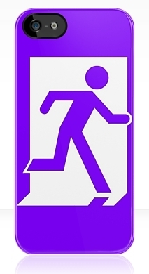 Running Man Fire Safety Exit Sign Emergency Evacuation Apple iPhone 5 Mobile Phone Case 32