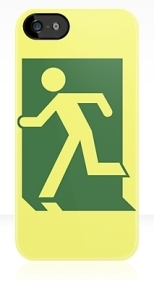 Running Man Fire Safety Exit Sign Emergency Evacuation Apple iPhone 5 Mobile Phone Case 33