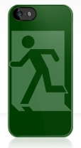 Running Man Fire Safety Exit Sign Emergency Evacuation Apple iPhone 5 Mobile Phone Case 34