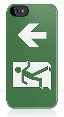 Running Man Fire Safety Exit Sign Emergency Evacuation Apple iPhone 5 Mobile Phone Case 35