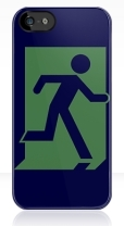 Running Man Fire Safety Exit Sign Emergency Evacuation Apple iPhone 5 Mobile Phone Case 37