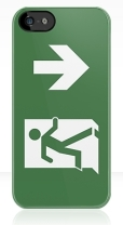 Running Man Fire Safety Exit Sign Emergency Evacuation Apple iPhone 5 Mobile Phone Case 38
