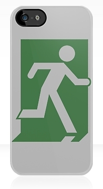 Running Man Fire Safety Exit Sign Emergency Evacuation Apple iPhone 5 Mobile Phone Case 39
