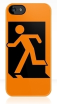 Running Man Fire Safety Exit Sign Emergency Evacuation Apple iPhone 5 Mobile Phone Case 4