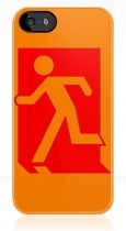 Running Man Fire Safety Exit Sign Emergency Evacuation Apple iPhone 5 Mobile Phone Case 40