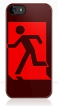 Running Man Fire Safety Exit Sign Emergency Evacuation Apple iPhone 5 Mobile Phone Case 41