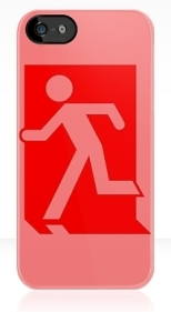 Running Man Fire Safety Exit Sign Emergency Evacuation Apple iPhone 5 Mobile Phone Case 42