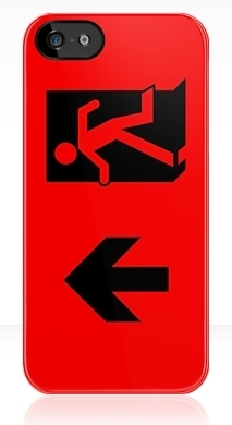 Running Man Fire Safety Exit Sign Emergency Evacuation Apple iPhone 5 Mobile Phone Case 44