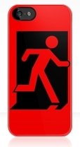 Running Man Fire Safety Exit Sign Emergency Evacuation Apple iPhone 5 Mobile Phone Case 45
