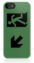 Running Man Fire Safety Exit Sign Emergency Evacuation Apple iPhone 5 Mobile Phone Case 46