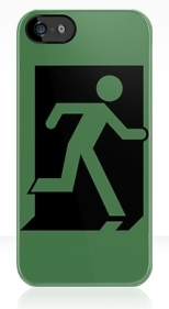 Running Man Fire Safety Exit Sign Emergency Evacuation Apple iPhone 5 Mobile Phone Case 47