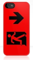Running Man Fire Safety Exit Sign Emergency Evacuation Apple iPhone 5 Mobile Phone Case 48
