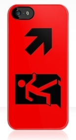 Running Man Fire Safety Exit Sign Emergency Evacuation Apple iPhone 5 Mobile Phone Case 49