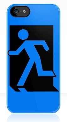 Running Man Fire Safety Exit Sign Emergency Evacuation Apple iPhone 5 Mobile Phone Case 5
