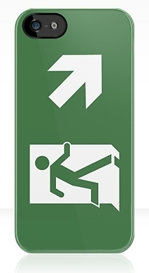 Running Man Fire Safety Exit Sign Emergency Evacuation Apple iPhone 5 Mobile Phone Case 50