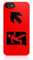 Running Man Fire Safety Exit Sign Emergency Evacuation Apple iPhone 5 Mobile Phone Case 51