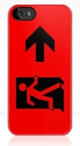 Running Man Fire Safety Exit Sign Emergency Evacuation Apple iPhone 5 Mobile Phone Case 52