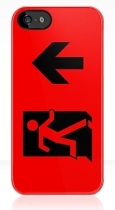 Running Man Fire Safety Exit Sign Emergency Evacuation Apple iPhone 5 Mobile Phone Case 53