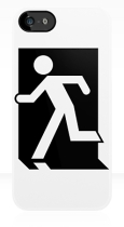 Running Man Fire Safety Exit Sign Emergency Evacuation Apple iPhone 5 Mobile Phone Case 54