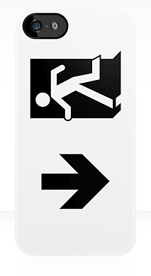 Running Man Fire Safety Exit Sign Emergency Evacuation Apple iPhone 5 Mobile Phone Case 55