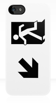 Running Man Fire Safety Exit Sign Emergency Evacuation Apple iPhone 5 Mobile Phone Case 56