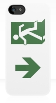 Running Man Fire Safety Exit Sign Emergency Evacuation Apple iPhone 5 Mobile Phone Case 57