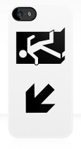 Running Man Fire Safety Exit Sign Emergency Evacuation Apple iPhone 5 Mobile Phone Case 58