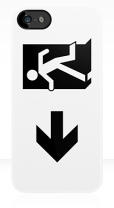 Running Man Fire Safety Exit Sign Emergency Evacuation Apple iPhone 5 Mobile Phone Case 59