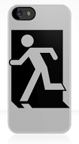Running Man Fire Safety Exit Sign Emergency Evacuation Apple iPhone 5 Mobile Phone Case 6