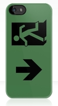 Running Man Fire Safety Exit Sign Emergency Evacuation Apple iPhone 5 Mobile Phone Case 60